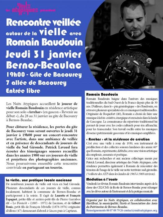 Concert-Rencontre Romain Baudouin