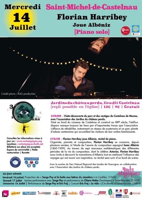 Nuits Atypiques 14 juillet - St-Michel-de-Castelnau- Florian Harribey joue Albéniz