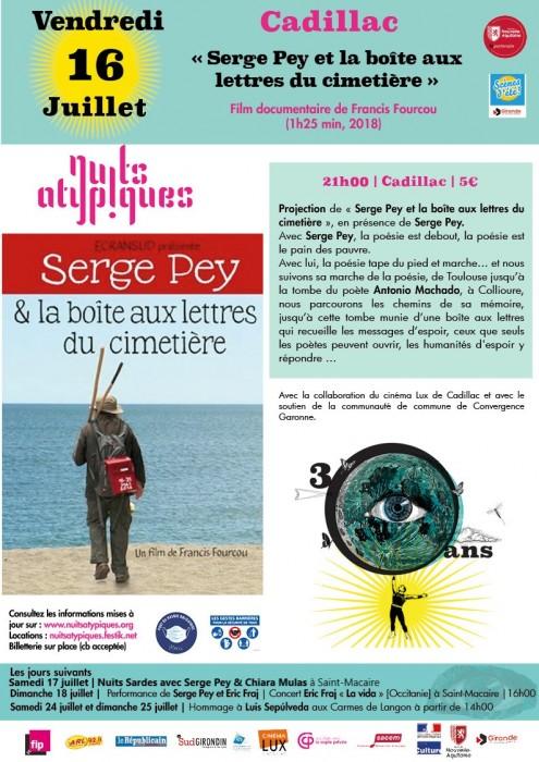 Nuits Atypiques 16 juillet Cadillac - Serge Pey et la boîte aux lettres du cimetière