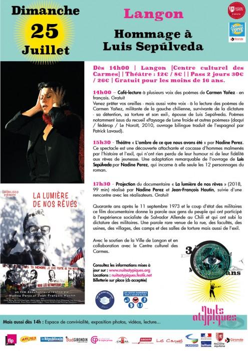Nuits Atypiques 25 juillet Langon Hommage à Luis Sepúlveda 2