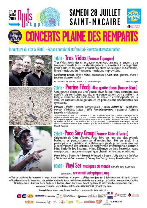 Nuits Atypiques - 28 juillet - Concerts - St-Macaire - WEB