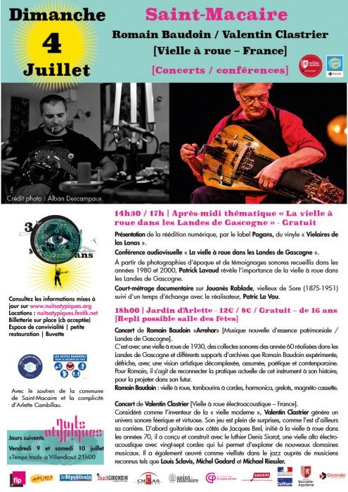Nuits Atypiques 4 juillet Saint-Macaire - vielle à roue