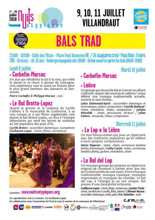 Nuits Atypiques - Bals trad - 9-11 juillet - Villandraut - WEB