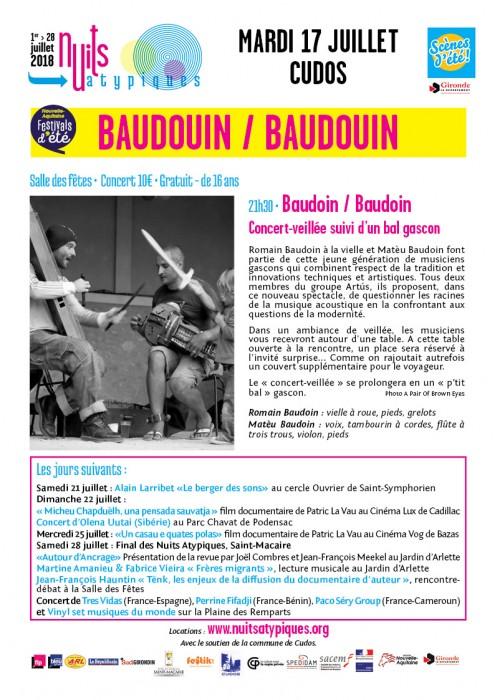 Nuits Atypiques - Baudouin - 17 juillet - Cudos-web