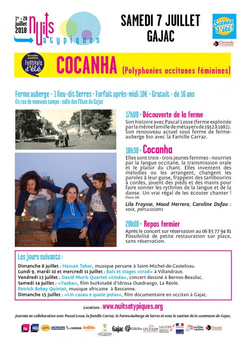 Nuits Atypiques - Cocanha - 7 juillet - Gajac - WEB