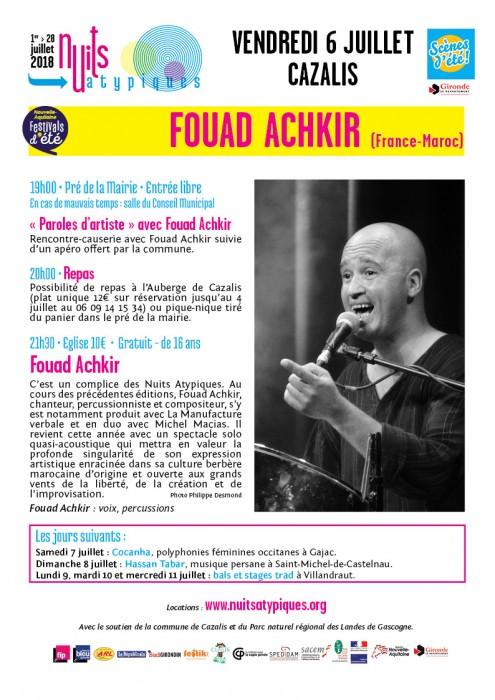 Nuits Atypiques - Fouad Achkir - 6 juillet - Cazalis - WEB