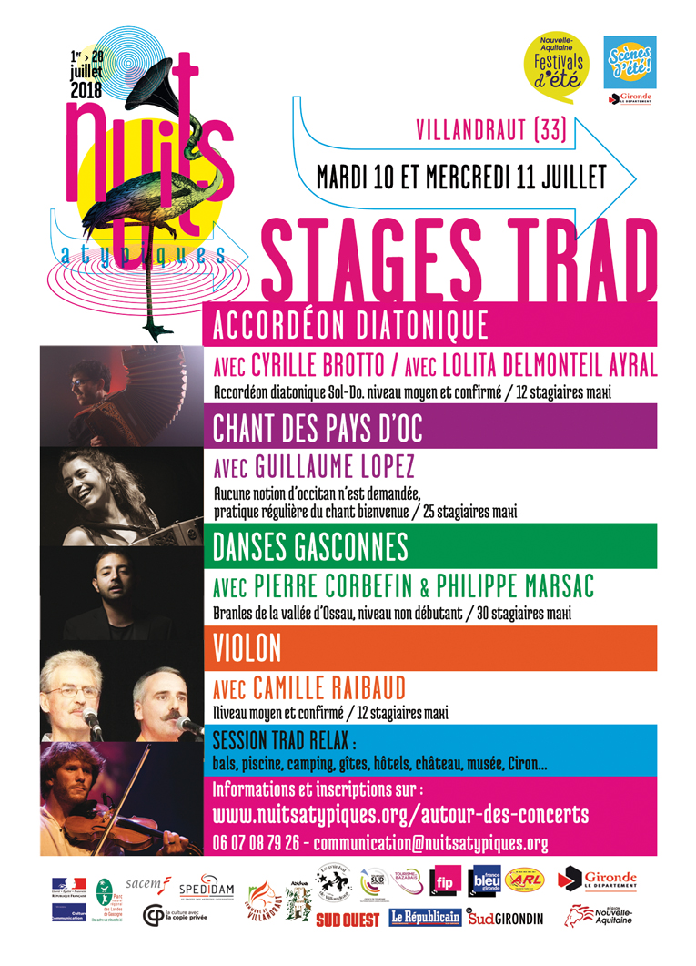 Stages Trad Nuits Atypiques 2018